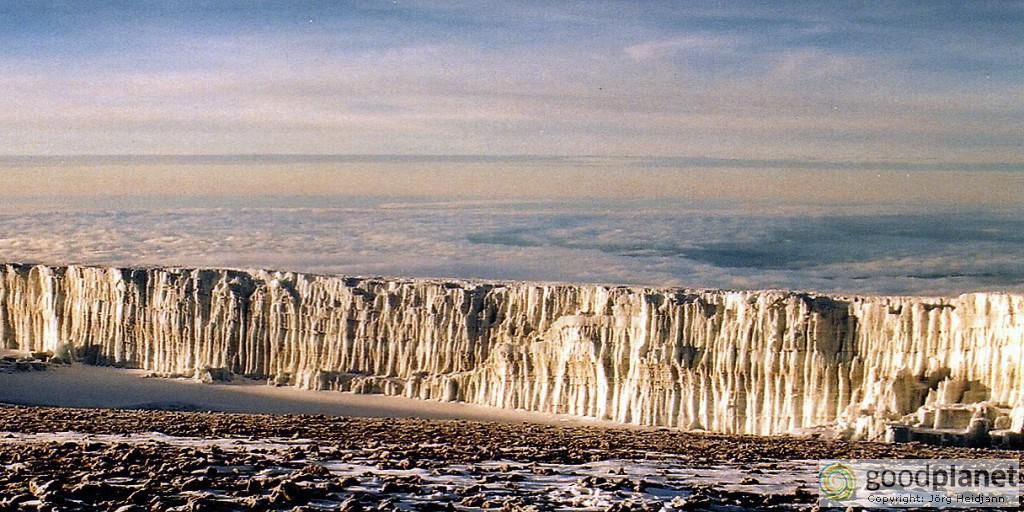 Riesige Gletscher am Kilimandscharo