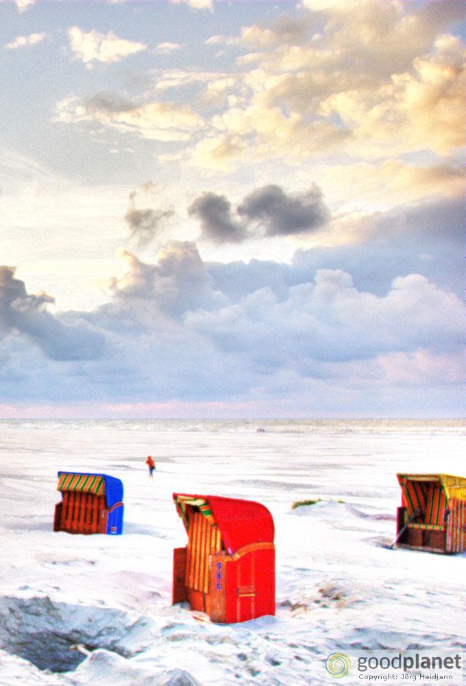Strandkörbe am Hauptstrand