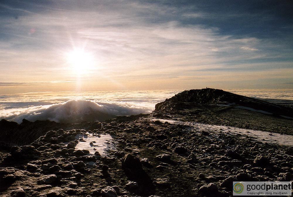 Sonnenaufgang am Kilimandscharo