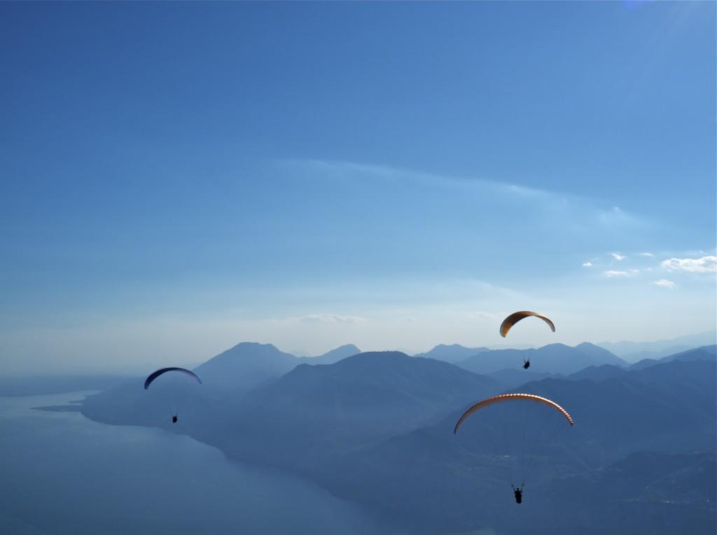 Gleitschirmfliegen am Monte Baldo
