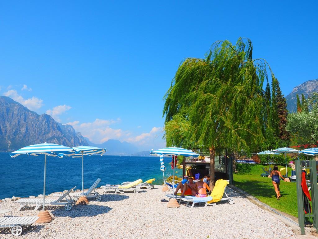Der kleine Strand am Gardasee