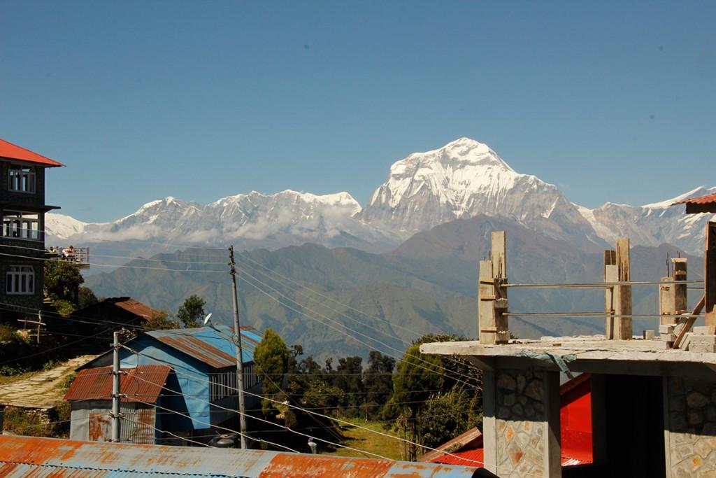 Ausblick in Ghorepani in Nepal