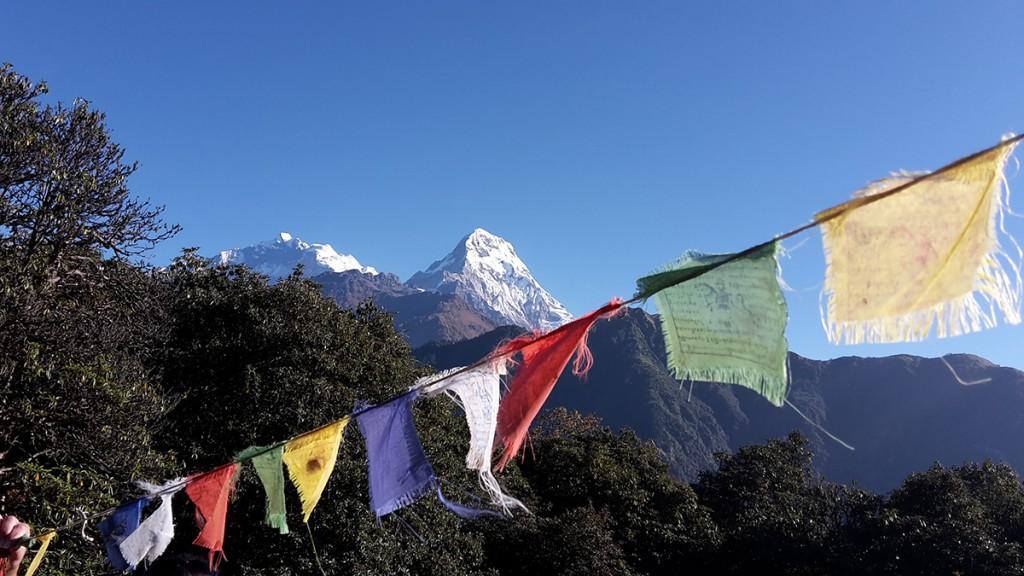 Nepal_Gebetsfahnen_Poonhill