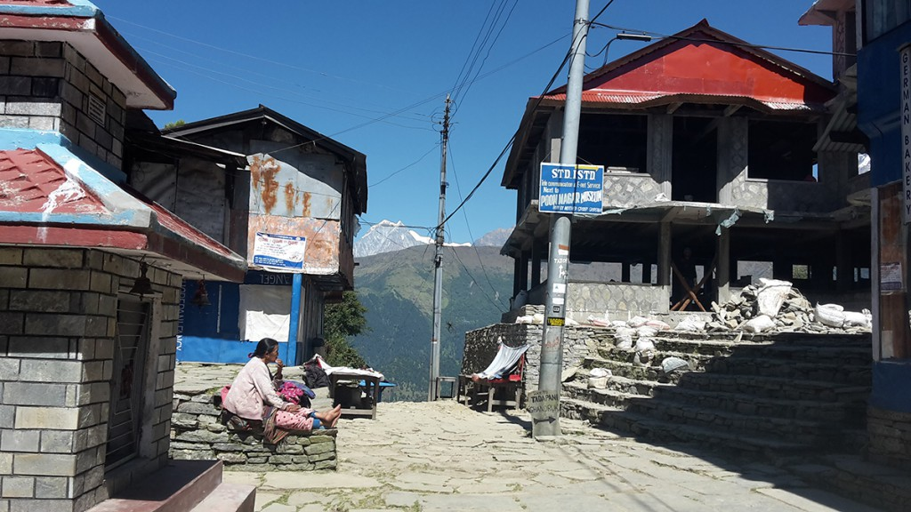 Wandern nach Ghorepani in Nepal auf dem Annapurna Circuit