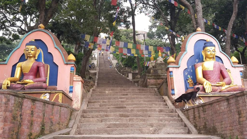 Swayambhuta Kathmandu in Nepal
