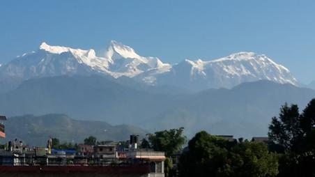 Die Berge um Pokhara in Nepal