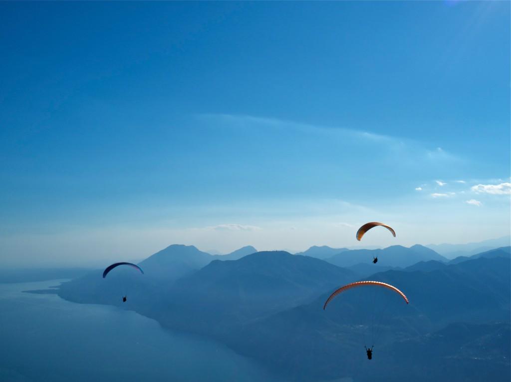 Paraglider am Gardasee