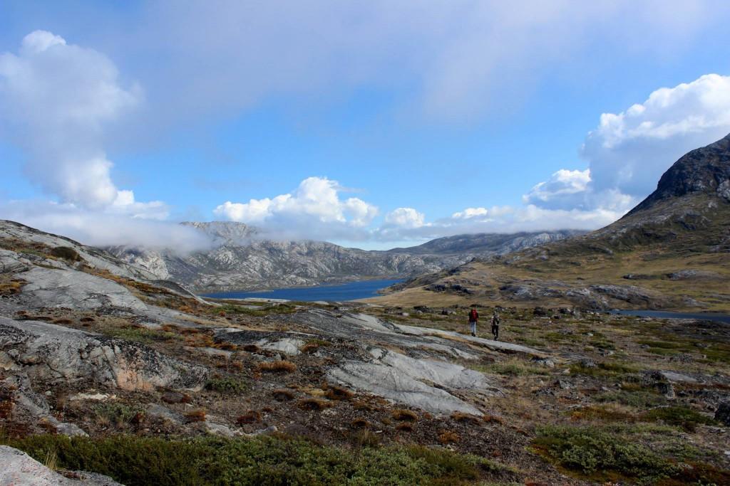 Wir inmitten der gewaltigen Tundra Grönlands