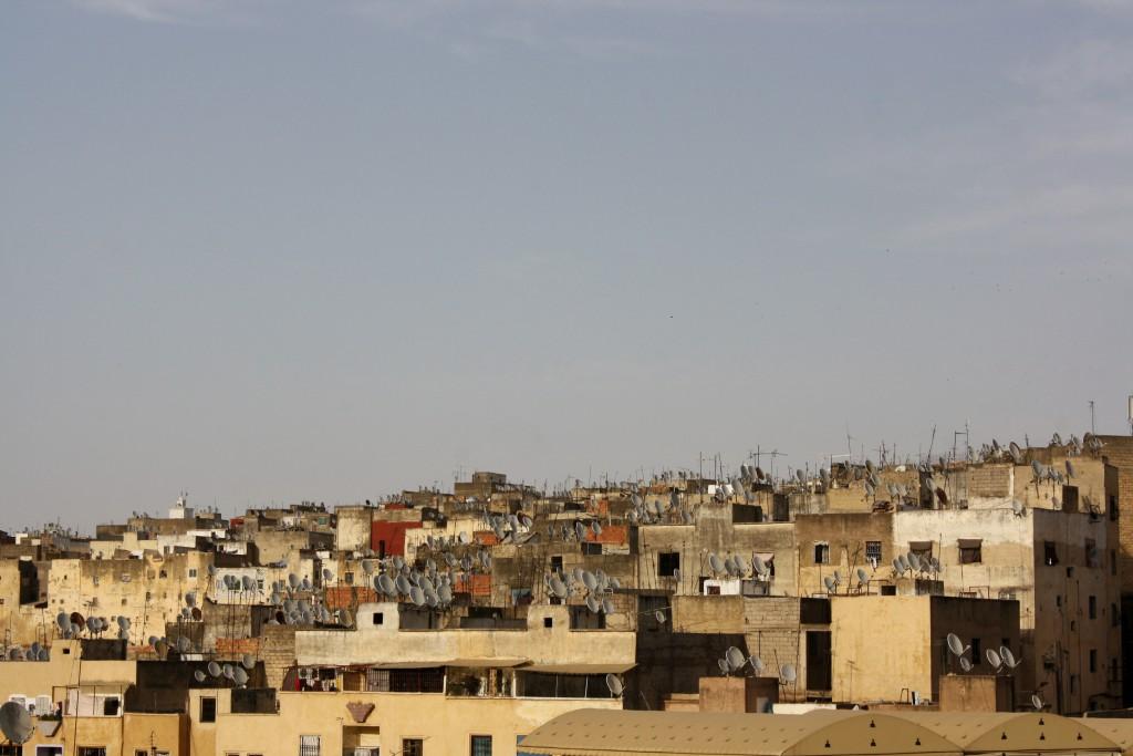 Marokko-Fès-Dächer