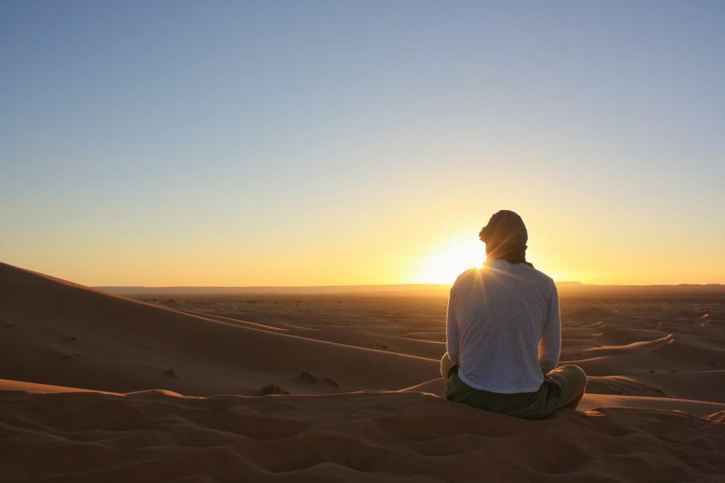 Marokko-Wüste-Sonnenuntergang