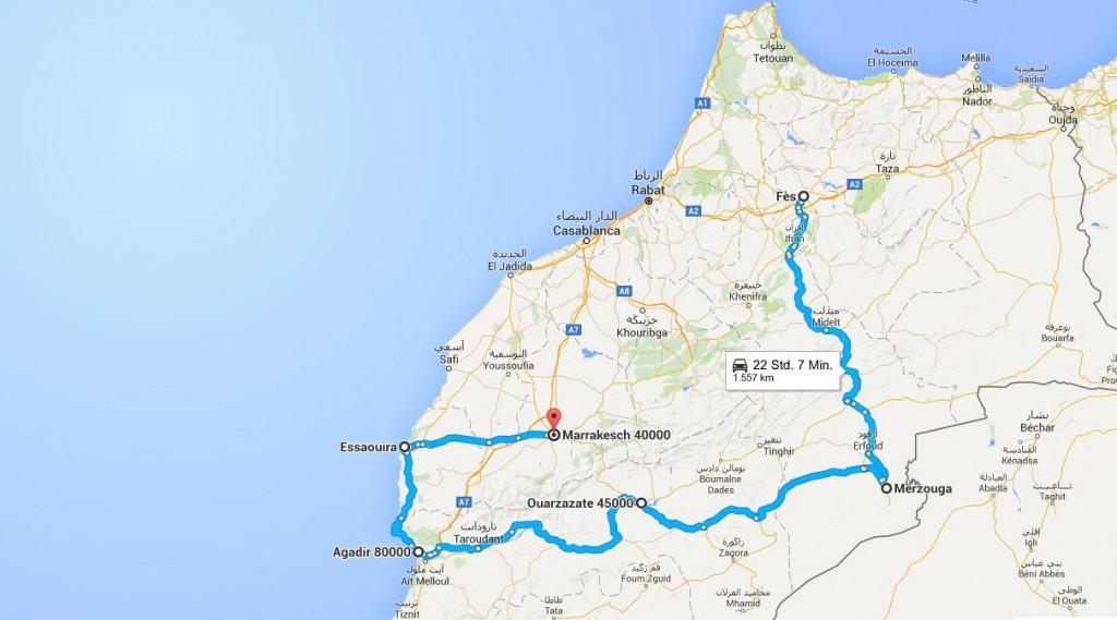 Marokoo- Route