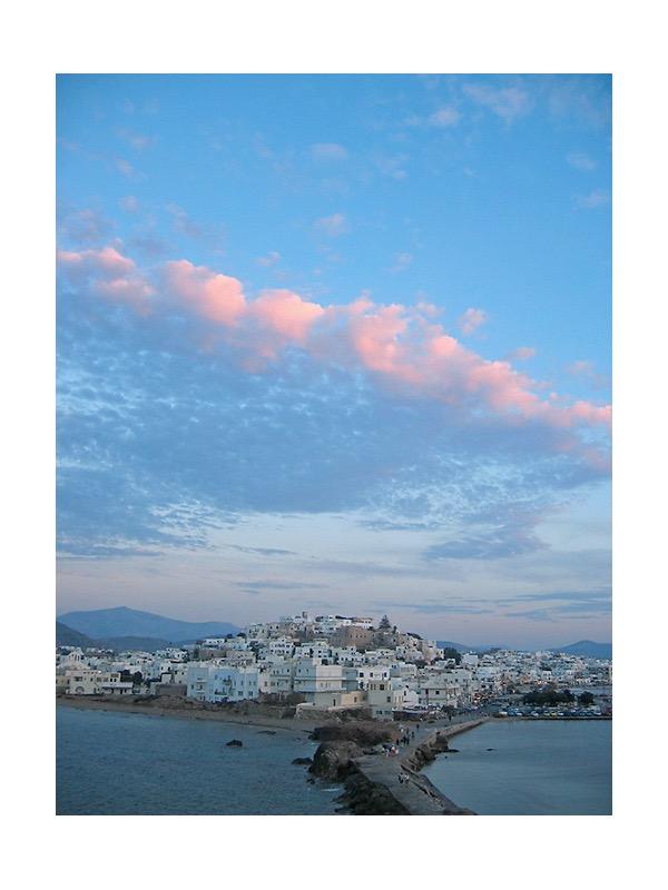 Blick auf Naxos vom Naxos Tor